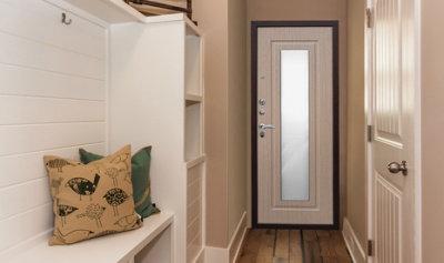 металлическая входная дверь для квартиры с зеркалом в квартиру